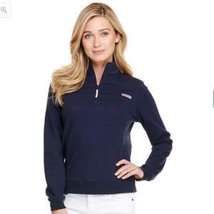 Navy Quarter-Zip Sweatshirt